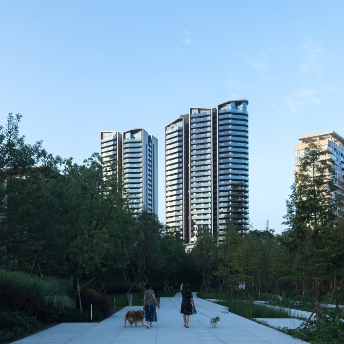 GRAFT, Berlin, Deutschland: Luxe Lake Towers, Chengdu, China